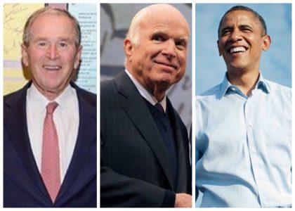 mcCain Obama and Bush